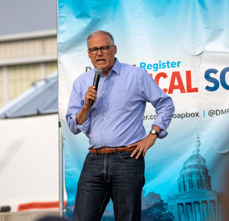 Washington Governor and Democratic Presidential Candidate Jay Inslee stock photography