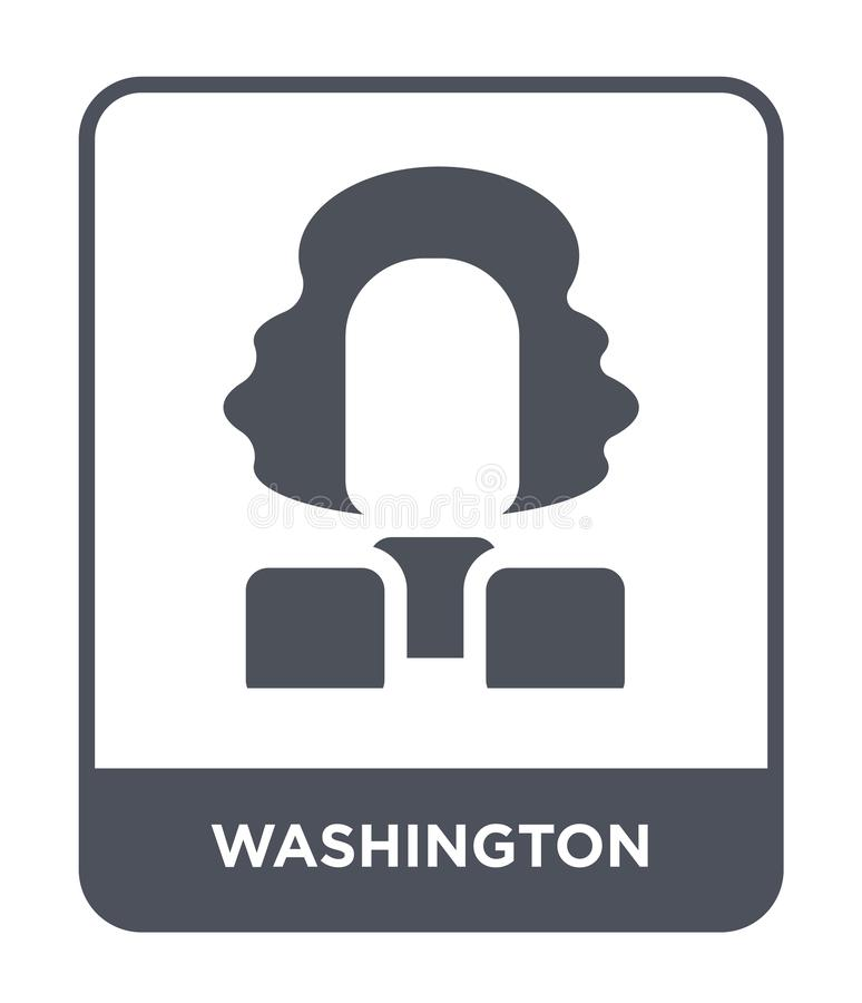 washington ikona w modnym projekta stylu washington ikona odizolowywająca na białym tle washington wektorowa ikona prosta i nowoż royalty ilustracja