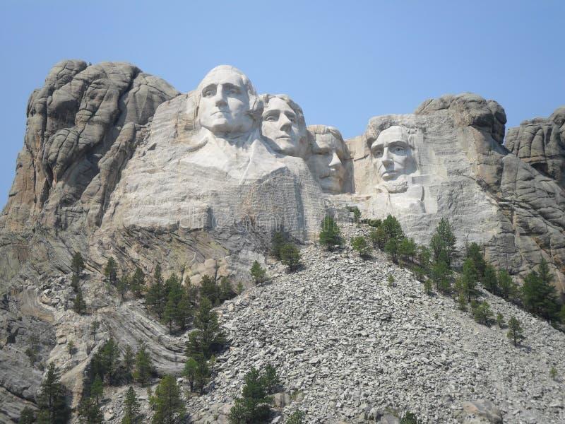 Washington, Jefferson, Roosevelt, Lincoln stock foto's