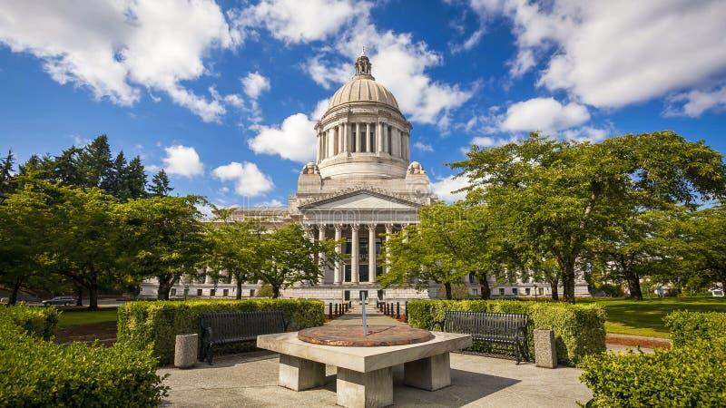 Washington Kapitolium för stat i Olympia arkivbilder