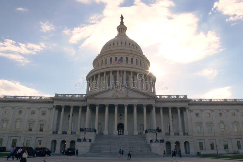 Washington, la casa blanca El símbolo de América imagen de archivo