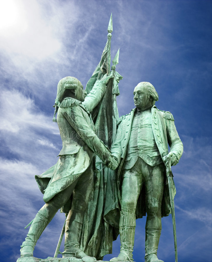 Washington and Lafayette stock photos