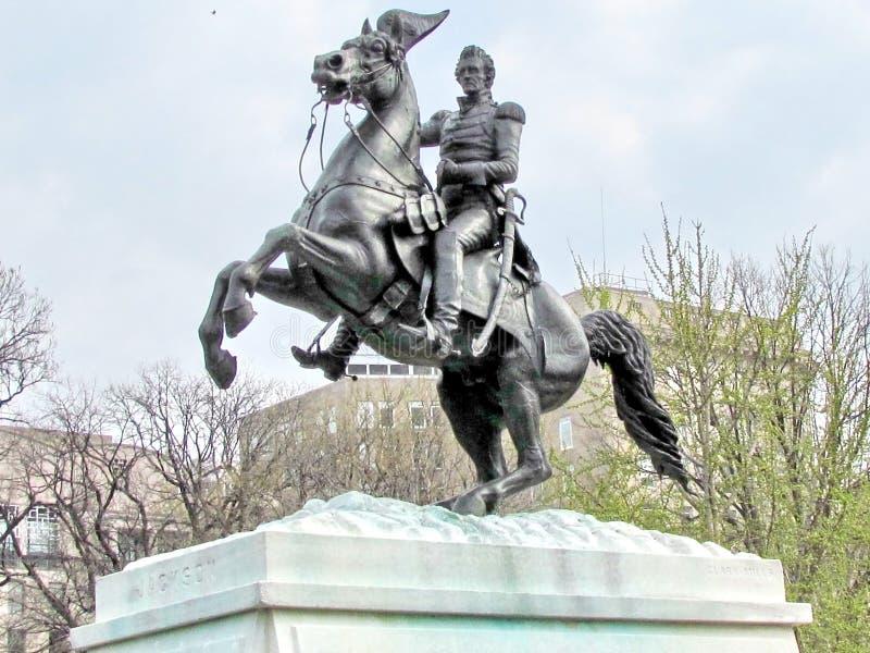 Washington Lafayette Park Andrew Jackson Monument 2011 royalty free stock images