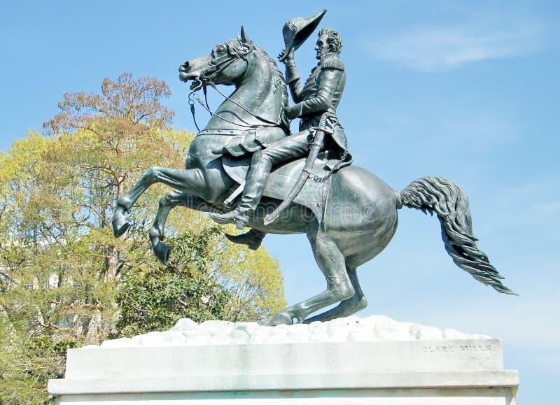 Washington Lafayette Park Andrew Jackson Monument 2010 royalty free stock images