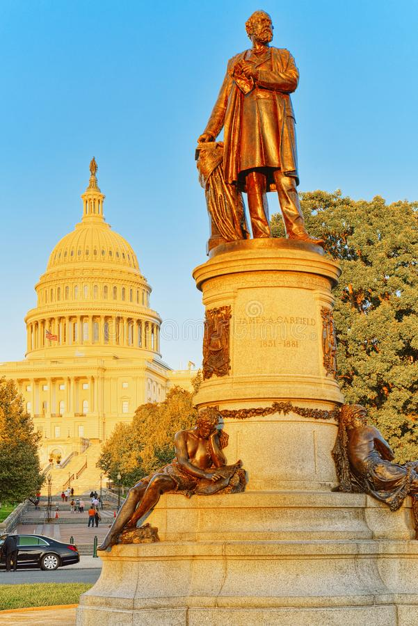 Washington, les Etats-Unis, capitol des Etats-Unis, et James A Garfield Mon photo libre de droits