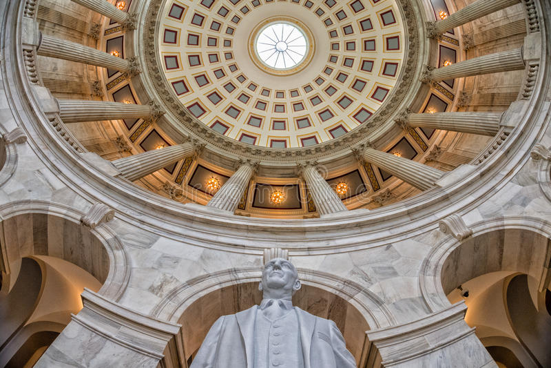 WASHINGTON, los E.E.U.U. - 23 de junio de 2016 - capitol del senado del edificio de Russel en la C.C. de Washington imagen de archivo
