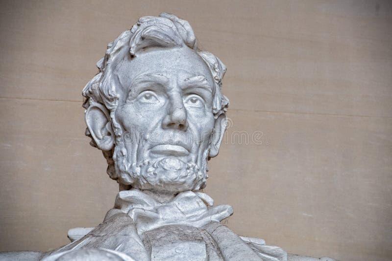 WASHINGTON, los E.E.U.U. - 24 de junio de 2016 - estatua de Lincoln en el monumento en Washington DC imagen de archivo