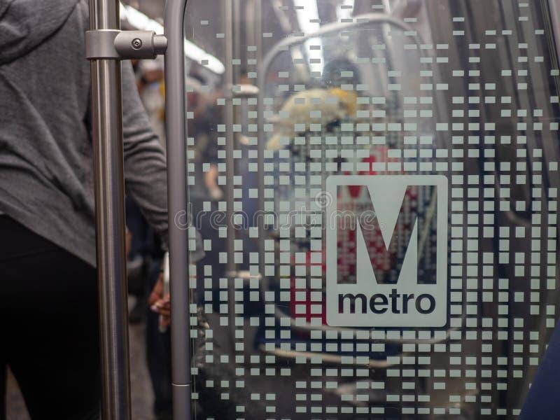 Washington Metropolitan Area Transit Authority WMATA metro logo on new 7000 series train. stock images