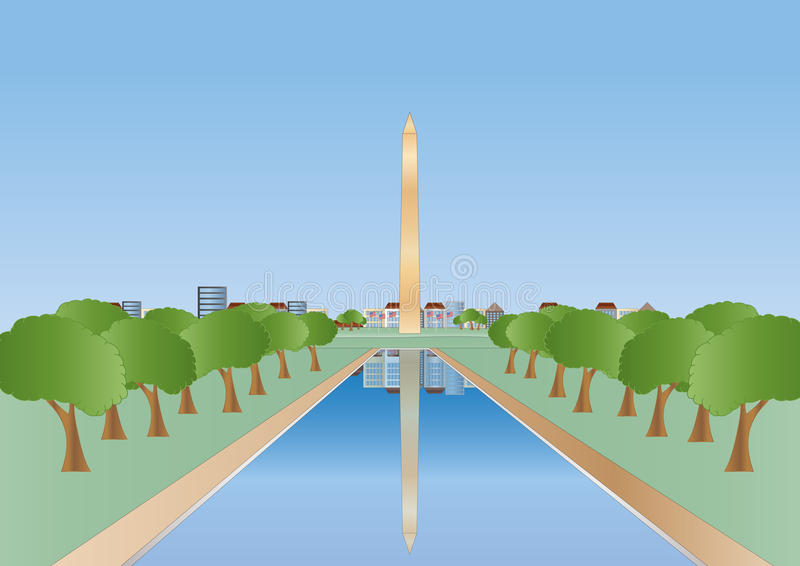 Download Washington monument stock vector. Image of monument, architecture - 17808440