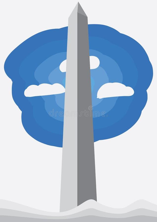 Washington Monument illustration stock