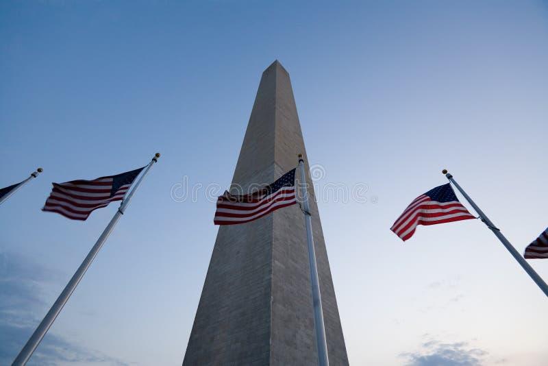 The Washington monument. At dusk. Washington D.C royalty free stock photography