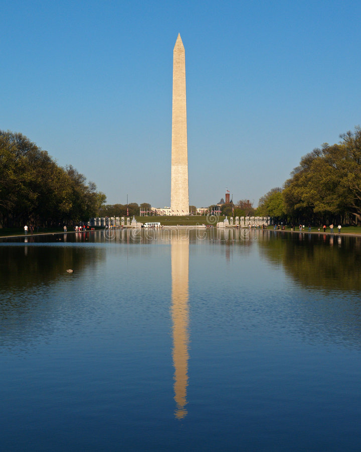 The Washington Monument in DC stock images