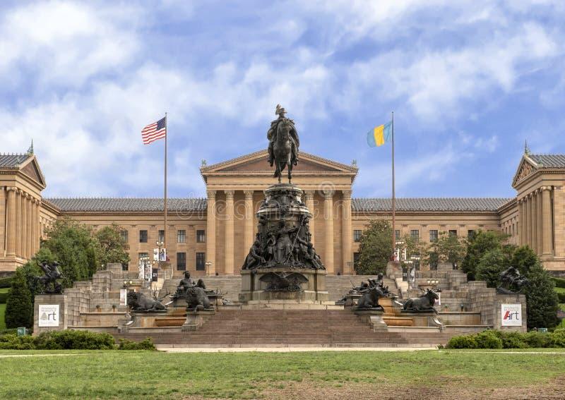 Washington Monument de Rudolf Siemering, Benjamin Franklin Parkway en el óvalo de Eakins, Philadelphia, Pennsylvania imagen de archivo
