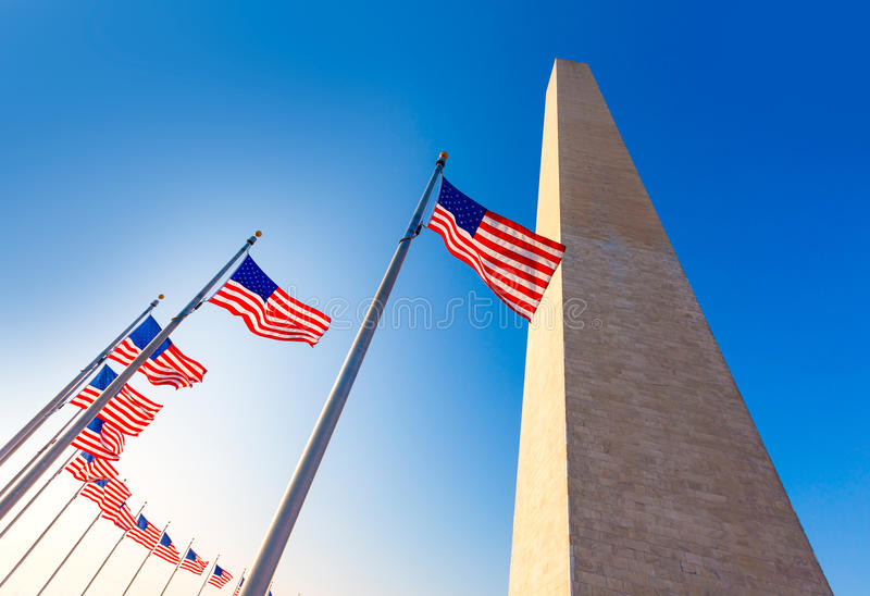 Washington Monument in District of Columbia DC stock images