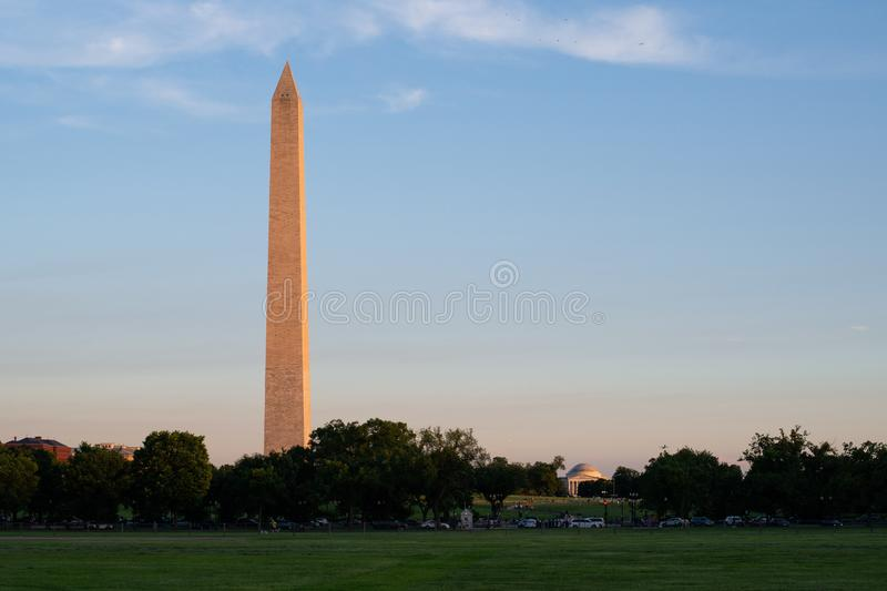 Washington Monument, National Mall, Washington DC royalty-vrije stock foto