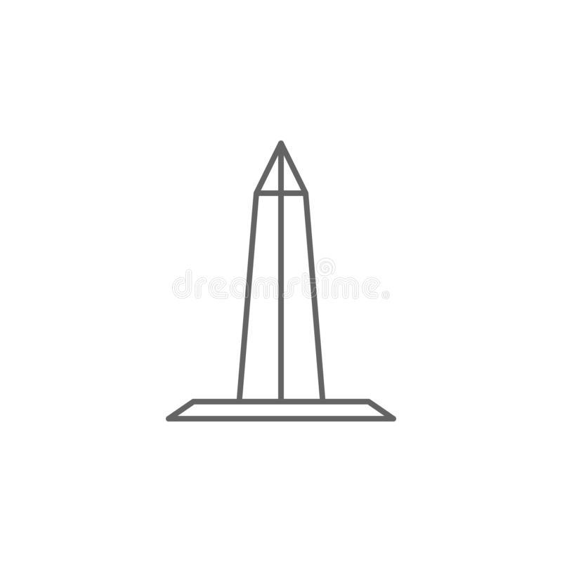 washington monument obelisk outline icon. Elements of independence day illustration icon. Signs and symbols can be used for web, stock illustration