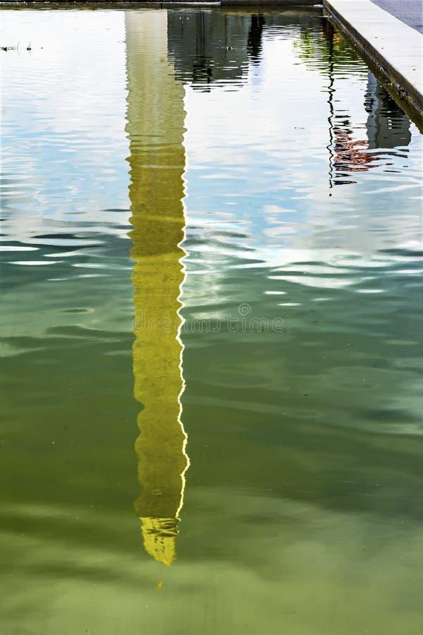 Washington Monument Reflecting Pool Reflection Lincoln Memorial Washington DC royalty free stock images