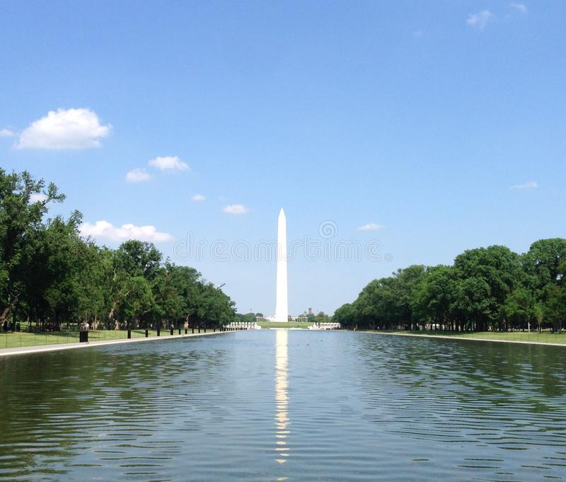 Washington Monument Reflection fotografia stock