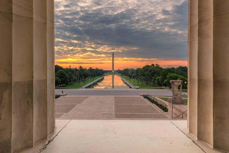 Washington Monument Sunrise imagen de archivo libre de regalías