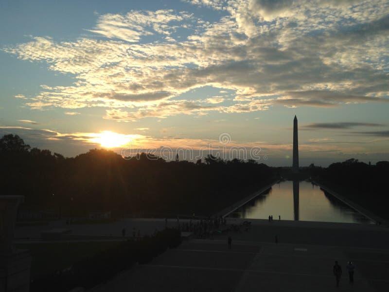 Washington Monument At Sunrise imagen de archivo libre de regalías