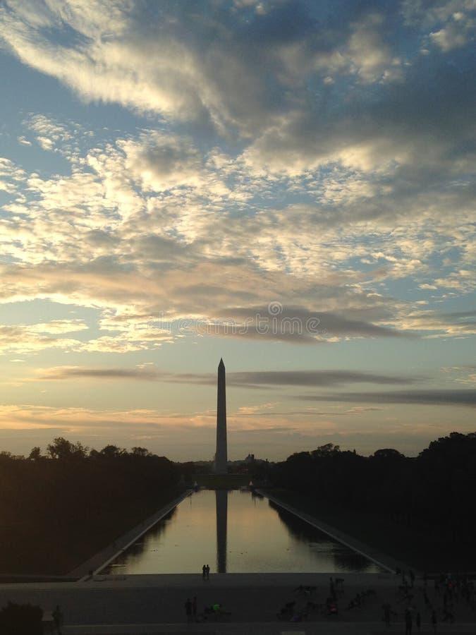 Washington Monument At Sunrise foto de archivo libre de regalías