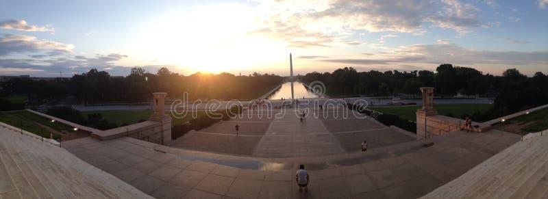 Washington Monument At Sunrise fotografía de archivo