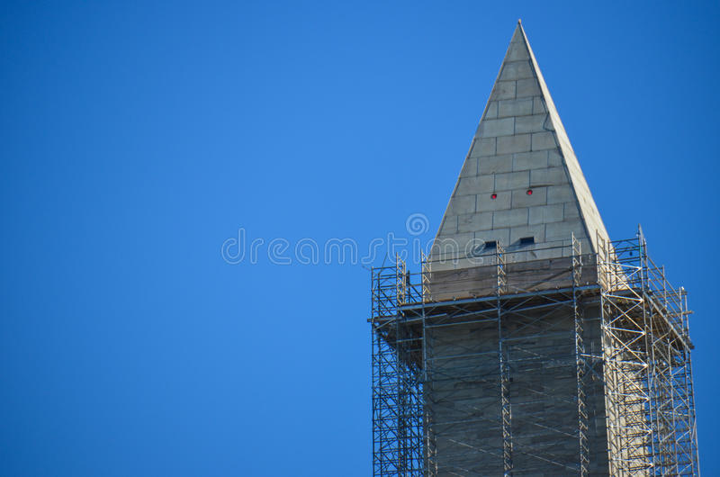 Washington Monument under construction royalty free stock photos