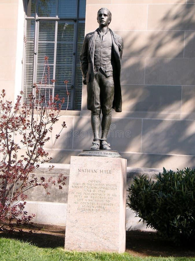 Washington Nathan Hale Statue 2010 foto de archivo libre de regalías