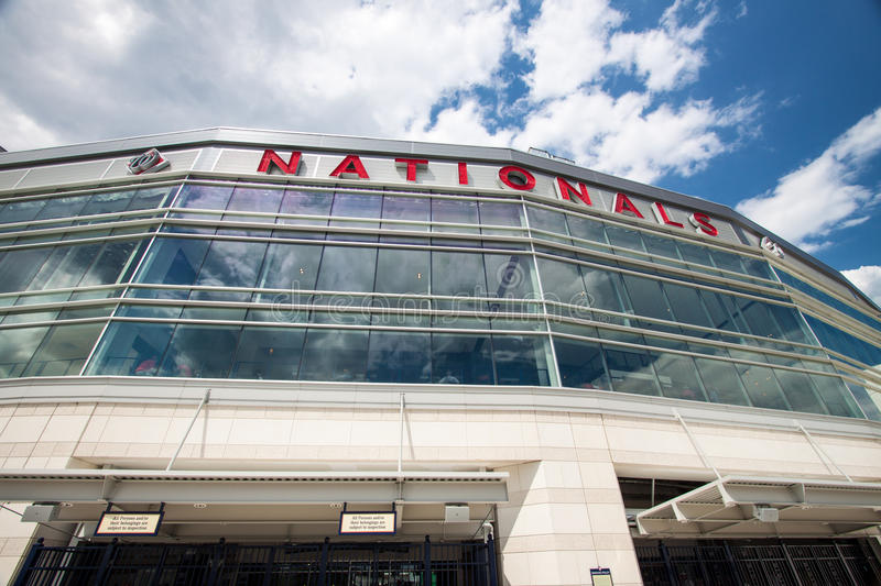 Washington Nationals Baseball Park, C.C. imagem de stock