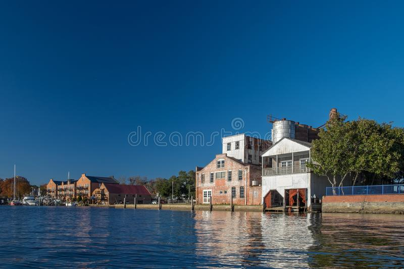 Old Structures along the Pamlico River royalty free stock images