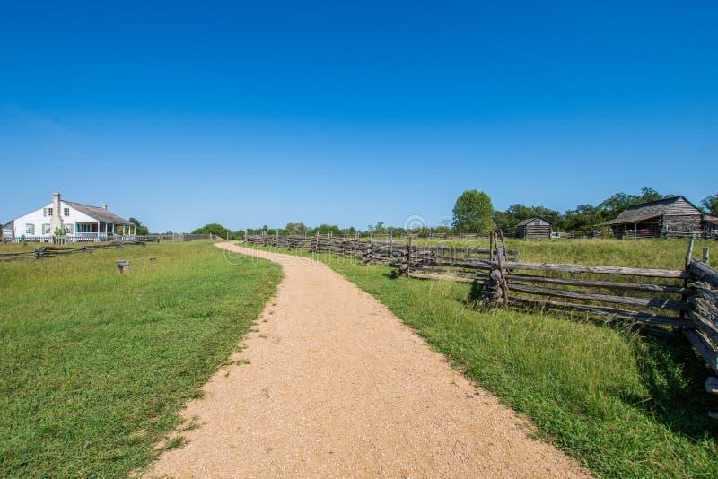 Washington no local histórico do estado de Brazos em Washington, Texa imagens de stock