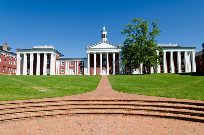 Washington och Lee University i Lexington, VA arkivfoto