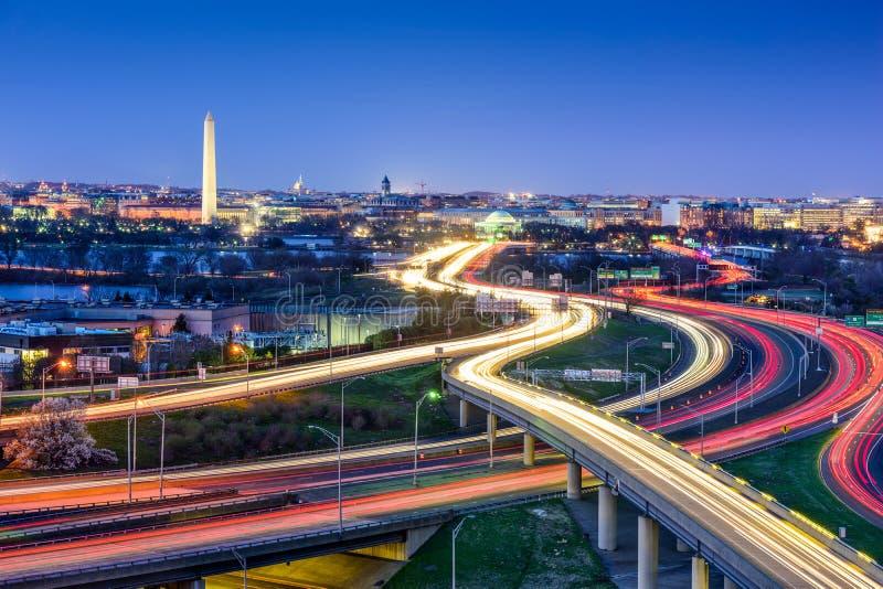 Washington, orizzonte di DC fotografia stock libera da diritti