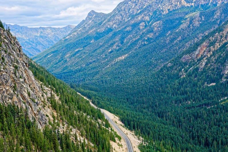 Washington Pass, cascatas nortes imagens de stock royalty free