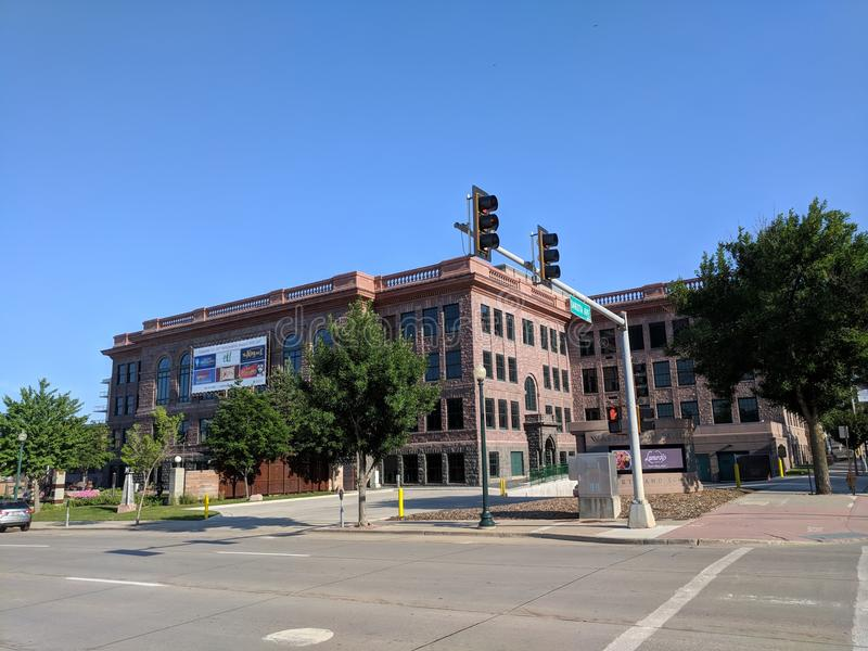 Washington Pavilion. The Washington Pavilion in downtown Sioux Falls offers a variety of educational and entertainment experiences. Classes for kids, an stock photography