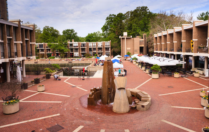 Washington Plaza in Reston Virginia royalty-vrije stock fotografie