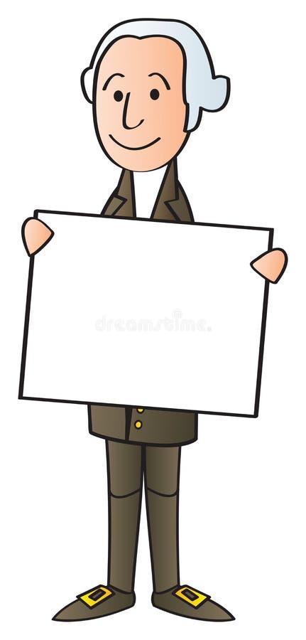 Washington que guardara o sinal ilustração stock