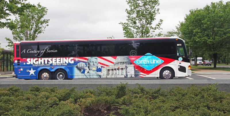 Washington Sightseeing Bus immagine stock