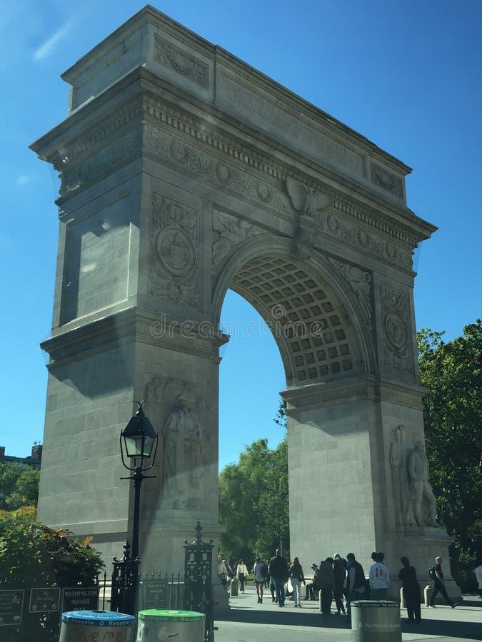 Washington Square Arch en Nueva York fotos de archivo