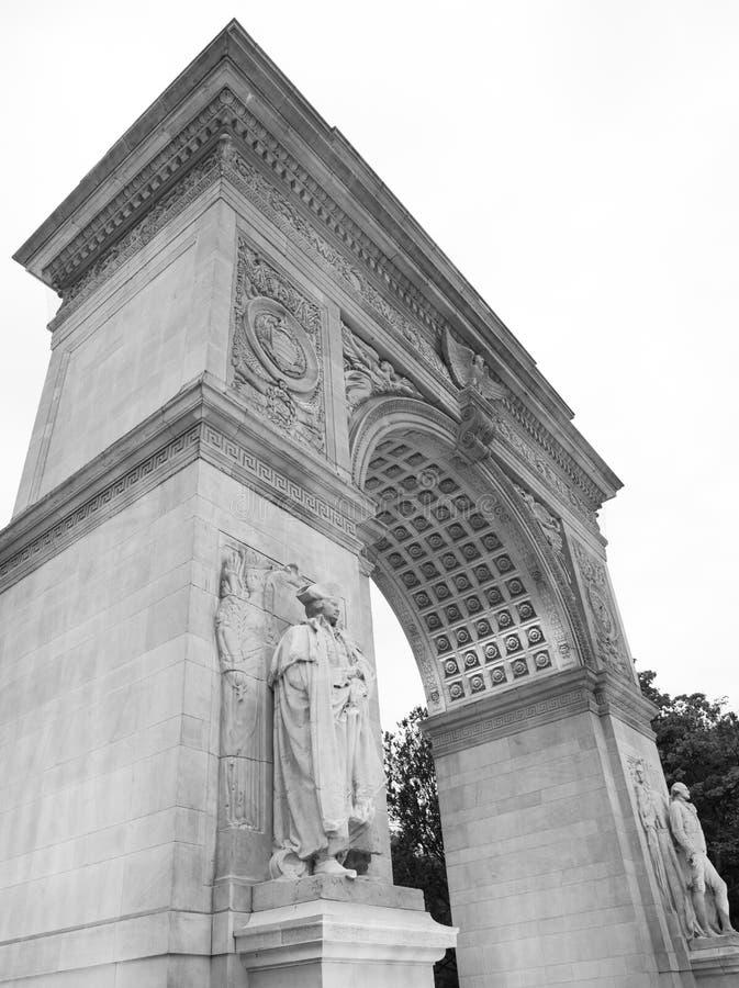 Washington Square Monument Greenwich Village, Manhattan, New York immagini stock libere da diritti