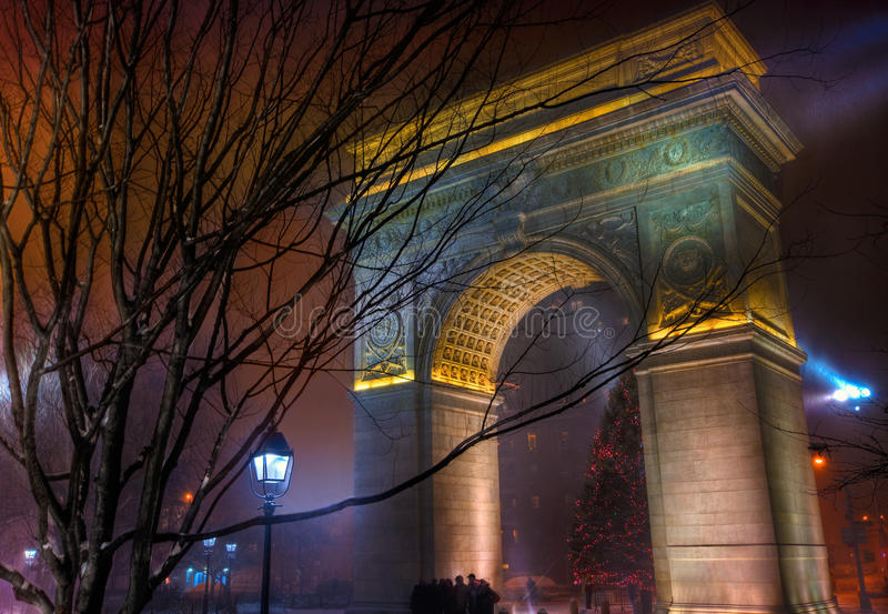 Washington Square Park Arch HDR royalty-vrije stock fotografie