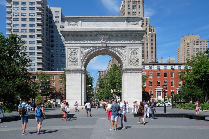 Washington Square Park in New York, NY stock afbeeldingen