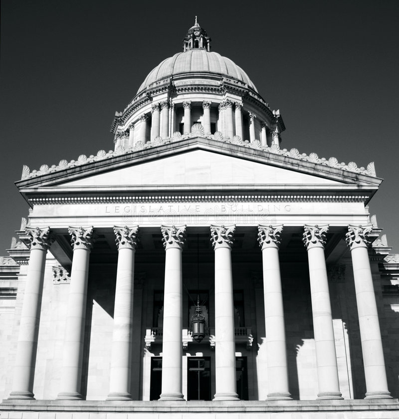 Download Washington State Capitol. Front Stock Photo - Image: 4418958