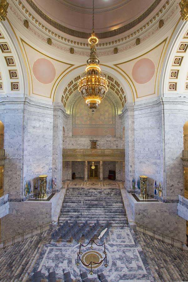 Washington State Capitol Rotunda Chandelier stock foto