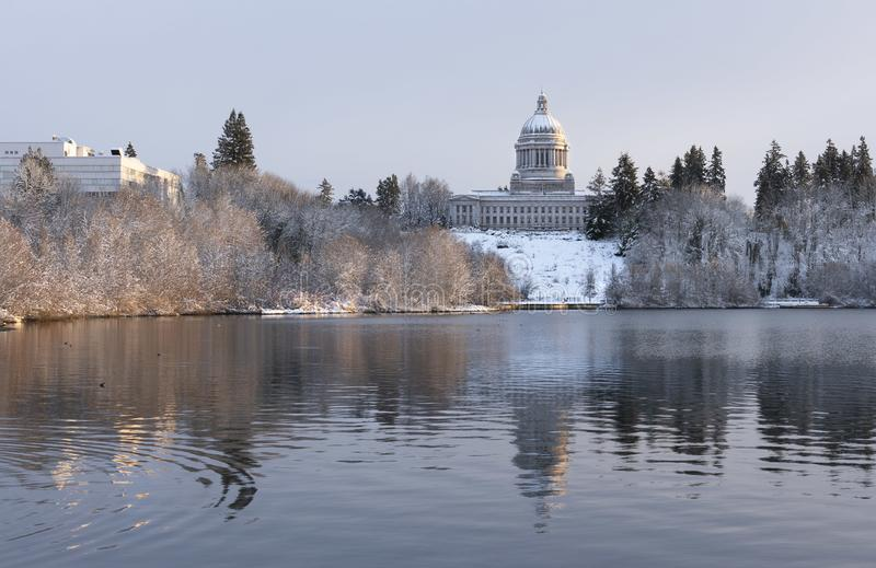Washington State Capitol in Winter. royalty free stock image