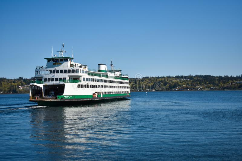 Washington State Ferries Departing royalty-vrije stock afbeelding