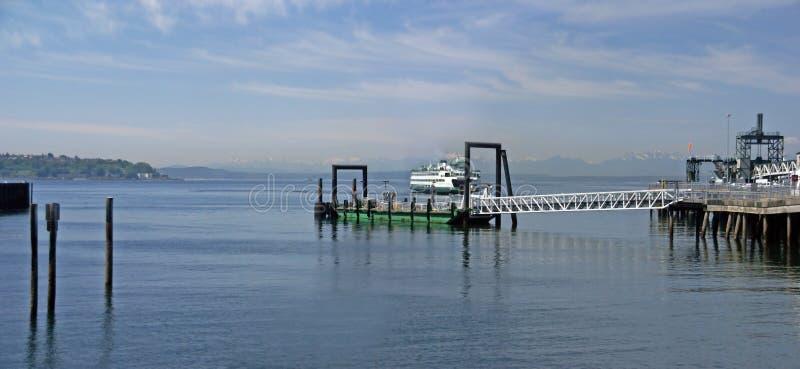 Washington State Ferry lämna royaltyfri bild