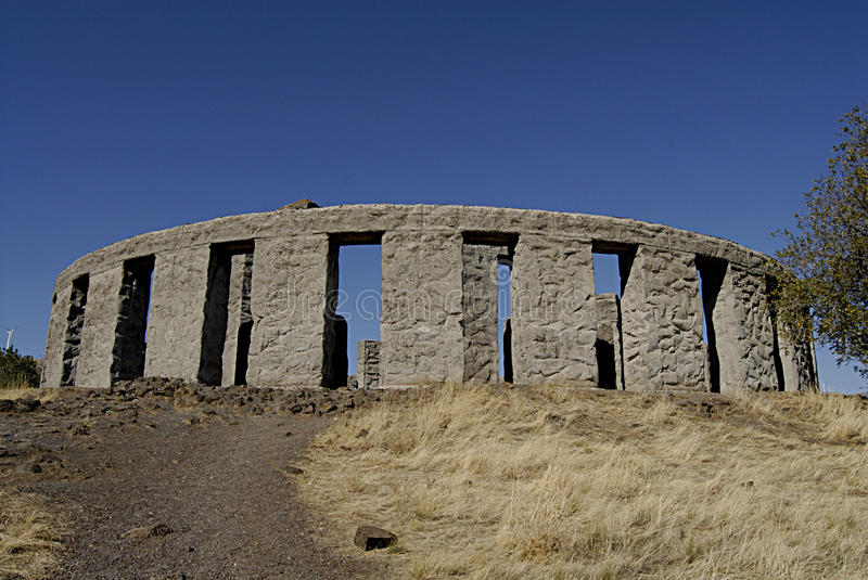 WASHINGTON STATE/USA _depilcate stonehenge. MARYHILL/WASHINGTON STATE /USA _ American Samuel Hill went to engkand in 1914 and deplicates and design Stonehenge royalty free stock photo
