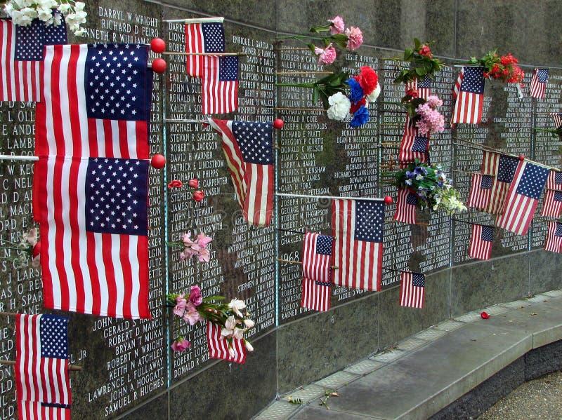 Washington State Vietnam War Memorial bij capitol, Olympia stock fotografie