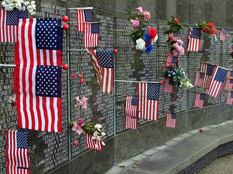 Washington State Vietnam War Memorial at the capitol, Olympia stock photography